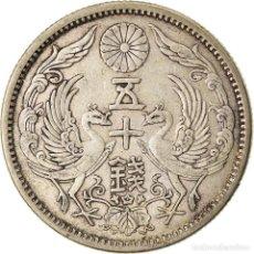 Monedas antiguas de Asia: [#872401] MONEDA, JAPÓN, YOSHIHITO, 50 SEN, 1923, MBC+, PLATA, KM:46. Lote 269112213