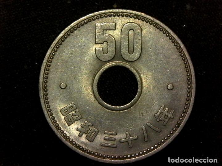 Monedas antiguas de Asia: 50 yen 1963 de Showa Japón (A2) - Foto 2 - 269121388