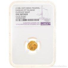 Monedas antiguas de Asia: [#905576] MONEDA, INDIA, PAGODA, 12TH-14TH CENTURY, NGC, UNC DETAILS, FDC, ORO, GRADED. Lote 269126378