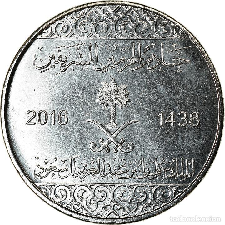 [#786427] MONEDA, ARABIA SAUDÍ, 10 HALALAS, 2016/AH1438, SC, NÍQUEL CHAPADO EN ACERO (Numismática - Extranjeras - Asia)