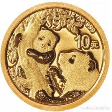 Monedas antiguas de Asia: MONEDA LINGOTE DE ORO PURO CHINA 24 QUILATES 1 GRAMO. Lote 269147778