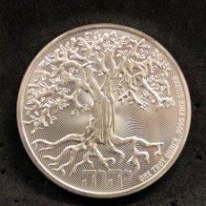 Monedas antiguas de Asia: ONZA MONEDA LINGOTE DE PLATA PURA- PROOF-ÁRBOL DE LA VIDA- NIUE-2021. Lote 269155043