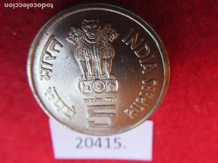 Monedas antiguas de Asia: India 5 rupias 2001 Nacimiento de Bhagwan Mahavir, Bombay - Foto 2 - 269167358