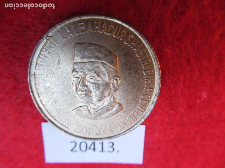 INDIA 5 RUPIAS 2004 NACIMIENTO DE LAL BAHADUR SHASTRI, CALCUTA (Numismática - Extranjeras - Asia)