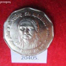 Monedas antiguas de Asia: INDIA 2 RUPIAS 1998 SRI AUROBINDO, NOIDA. Lote 269168168
