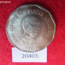 Monedas antiguas de Asia: INDIA 2 RUPIAS 1998 SARDAR VALLABHBHAI PATEL, CALCUTA. Lote 269168698