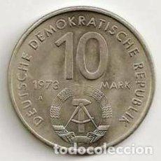 Monete antiche di Asia: RDA. ALEMANIA ORIENTAL. 10 MARK 1973A. KM 44. S/C.. Lote 269479068