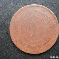 Monedas antiguas de Asia: COLONIAS DEL ESTRECHO INGLESAS RARA MONEDA 1 CENTAVOS AÑO 1901. CONSERVACIÓN BC. Lote 269490683