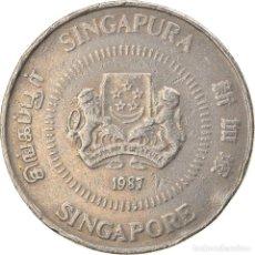Monedas antiguas de Asia: [#747522] MONEDA, SINGAPUR, 50 CENTS, 1987, BRITISH ROYAL MINT, BC+, COBRE - NÍQUEL. Lote 269505618