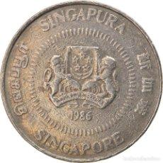 Monedas antiguas de Asia: [#747521] MONEDA, SINGAPUR, 50 CENTS, 1986, BRITISH ROYAL MINT, BC+, COBRE - NÍQUEL. Lote 269505658