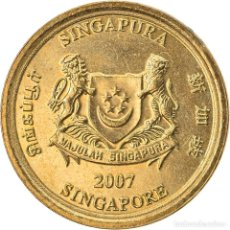 Monedas antiguas de Asia: [#747503] MONEDA, SINGAPUR, 5 CENTS, 2007, SINGAPORE MINT, MBC, ALUMINIO - BRONCE, KM:99. Lote 269507233