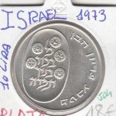 Monedas antiguas de Asia: CR0504 MONEDA ISRAEL PLATA 10 LIRAS 1973 18. Lote 270212573
