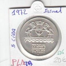 Monedas antiguas de Asia: CR0505 MONEDA ISRAEL PLATA 5 LIRAS 1972 20. Lote 270212683