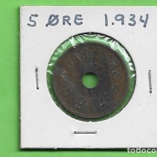 Monedas antiguas de Asia: DINAMARCA. 5 ORE 1934. BRONCE. KM#828. Lote 271660023