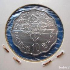 Monedas antiguas de Asia: MONEDA DE BHUTAN DE 10 CHETRUMS DE 1975 MUY RARA SC. Lote 275971843