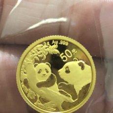 Monedas antiguas de Asia: MONEDA LINGOTE DE ORO PURO- 3 GRAMOS - PANDA 2021 CHINA. Lote 276551883