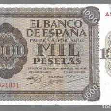 Monedas antiguas de Asia: BILLETE DE ESPAÑA 1000 PESETAS DE FRANCO 1936 DE BURGOS EL QUE VES ORIGINAL. Lote 276818258