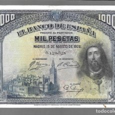 Monedas antiguas de Asia: BILLETE DE ESPAÑA 1000 PESETAS DE ALFONSO XIII 1928 EL QUE VES ORIGINAL. Lote 277022753