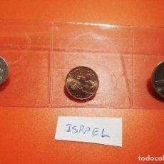 Monedas antiguas de Asia: MONEDAS - SET ISRAEL - TRES MONEDAS 1 SHEQUEL, 10 SHEQUEL Y 1/2 LIROT - S/C. Lote 277162348