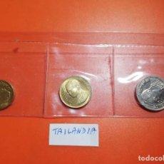 Monedas antiguas de Asia: MONEDAS - SET TAILANDIA - TRES MONEDAS 1 BATH, 25 SATANG Y 50 SATANG - S/C. Lote 277162878