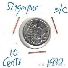 Monedas antiguas de Asia: MONEDAS - SINGAPUR - 10 CENTS 1980. Lote 277455703