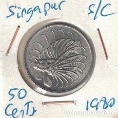 Monedas antiguas de Asia: MONEDAS - SINGAPUR - 50 CENTS 1980 S/C. Lote 277455943