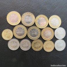Monedas antiguas de Asia: BAHRAIN 14 MONEDAS TODAS DIFERENTES 5 10 25 50 100 FILS 1992 - 2011. Lote 278228838