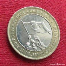Monedas antiguas de Asia: TURQUÍA 1 LIRA 2016 BANDERA TURKEY. Lote 278233513