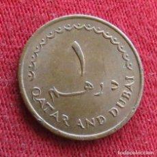 Monedas antiguas de Asia: QATAR DUBAI 1 DIRHEM 1966. Lote 278268028