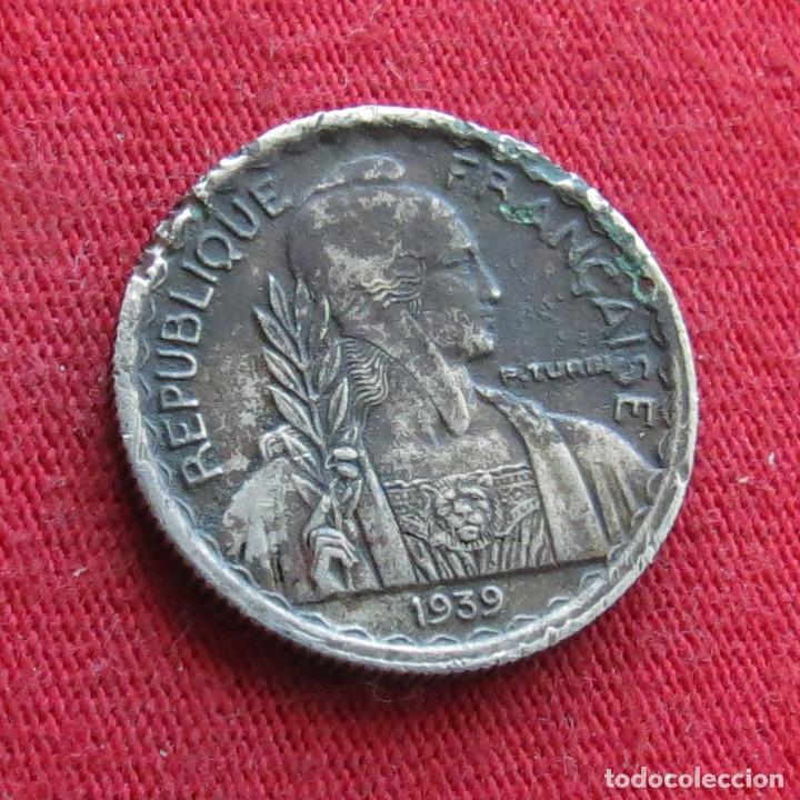 Monedas antiguas de Asia: Indochina francesa 10 cents 1939 - Foto 2 - 278275228