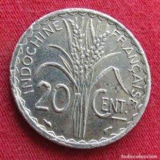 Monedas antiguas de Asia: INDOCHINA FRANCESA 20 CENTS 1939. Lote 278275428