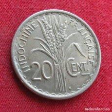 Monedas antiguas de Asia: INDOCHINA FRANCESA 20 CENTS 1941. Lote 278275473