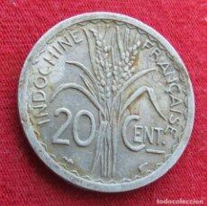 Monedas antiguas de Asia: INDOCHINA FRANCESA 20 CENTS 1945. Lote 278275523