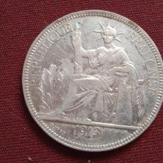 Monedas antiguas de Asia: PIASTRA DE PLATA DE 1913. INDOCHINA FRANCESA. Lote 278278603
