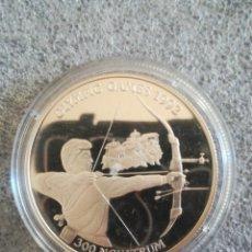 Monedas antiguas de Asia: MONEDA 300 NGULTRUM 1992 BUTÁN PROOF PLATA BARCELONA 1992. Lote 279592723