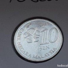 Monedas antiguas de Asia: MALASIA 10 SEN 2013 (SIN CIRCULAR). Lote 288082798