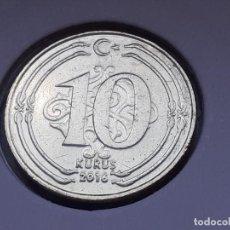 Monedas antiguas de Asia: TURQUIA/TURKIYE 10 KURUS 2016 (SIN CIRCULAR). Lote 288095033