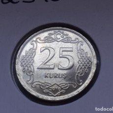 Monedas antiguas de Asia: TURQUIA/TURKIYE 25 KURUS 2010 (SIN CIRCULAR). Lote 288096793