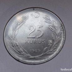 Monedas antiguas de Asia: TURQUIA/TURKIYE 25 KURUS 1969. Lote 288097268