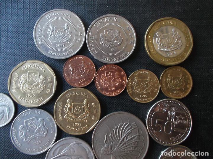 Monedas antiguas de Asia: coleccion de monedas de Singapour diversos años - Foto 3 - 288169928