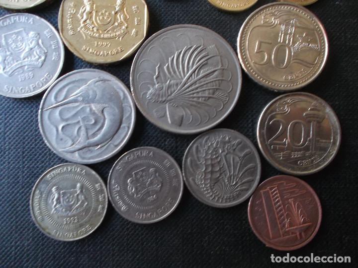 Monedas antiguas de Asia: coleccion de monedas de Singapour diversos años - Foto 5 - 288169928