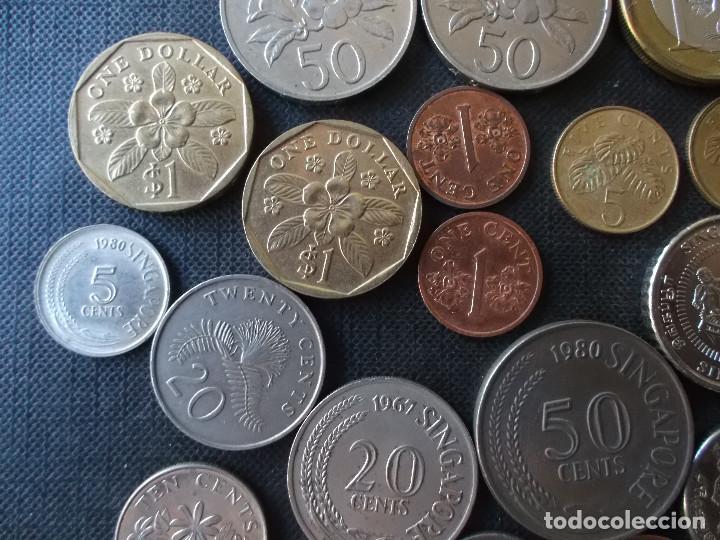 Monedas antiguas de Asia: coleccion de monedas de Singapour diversos años - Foto 7 - 288169928