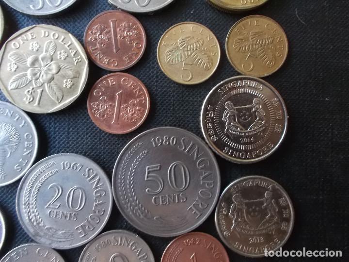 Monedas antiguas de Asia: coleccion de monedas de Singapour diversos años - Foto 8 - 288169928