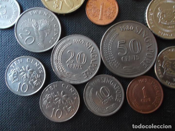 Monedas antiguas de Asia: coleccion de monedas de Singapour diversos años - Foto 9 - 288169928