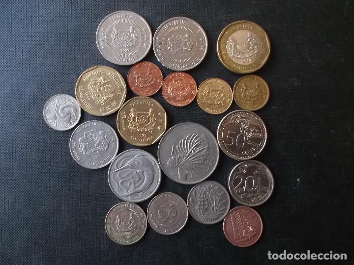 COLECCION DE MONEDAS DE SINGAPOUR DIVERSOS AÑOS (Numismática - Extranjeras - Asia)