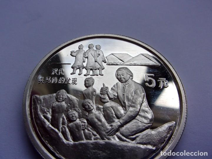 Monedas antiguas de Asia: 36SCK16 China 5 yuan de plata PROOF 1993 Guerreros de terracota - Foto 2 - 288224598