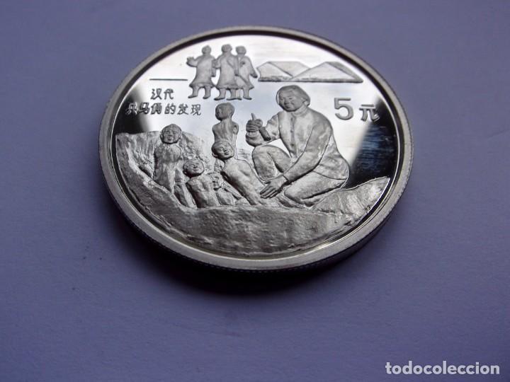 Monedas antiguas de Asia: 36SCK16 China 5 yuan de plata PROOF 1993 Guerreros de terracota - Foto 3 - 288224598