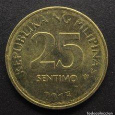 Monedas antiguas de Asia: FILIPINAS, 25 CÉNTIMOS 2015. Lote 288302993