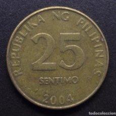 Monedas antiguas de Asia: FILIPINAS, 25 CÉNTIMOS 2004. Lote 288304553