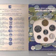 Monedas antiguas de Asia: SET O CARTERA CON 7 MONEDAS PIEFORT DE 1983. CONMEMORATIVA 35 ANIVERSARIO DE LA MINT DE ISRAEL.. Lote 288676768
